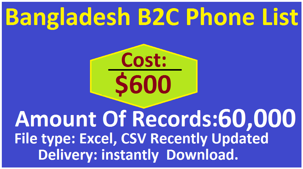 Bangladesh B2C Phone List