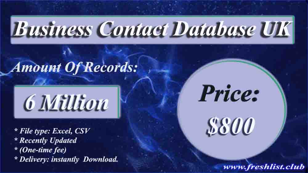 Business Contact Database UK
