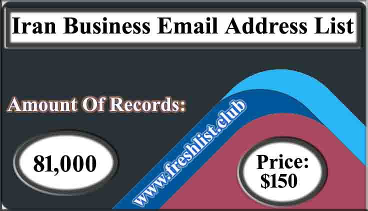 Iran Business Email Address List