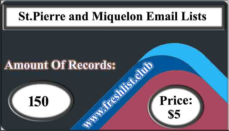 St.Pierre and Miquelon Email Lists