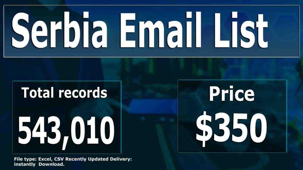 Serbia Email List