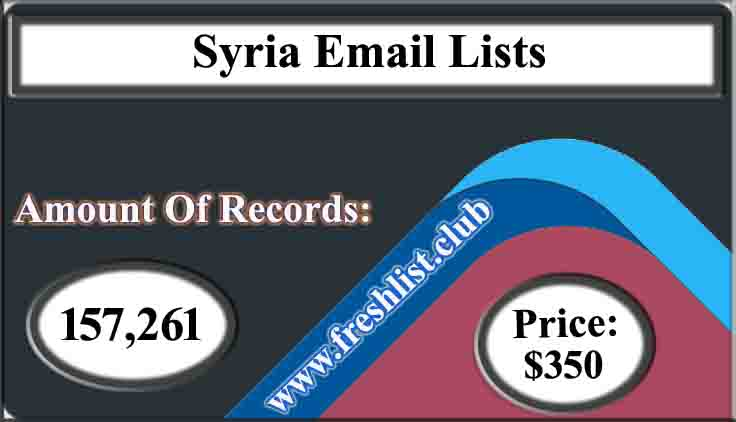 Syria Email Lists