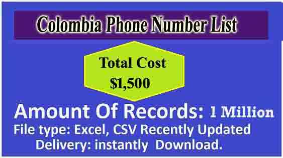 Colombia Mobile Phone Numbers