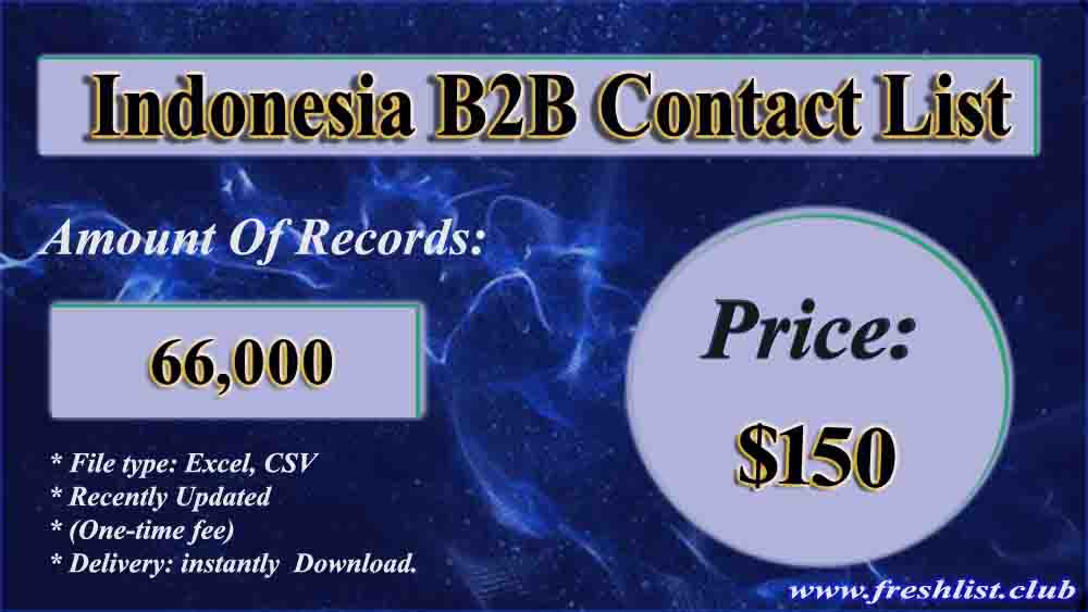Indonesia B2B List